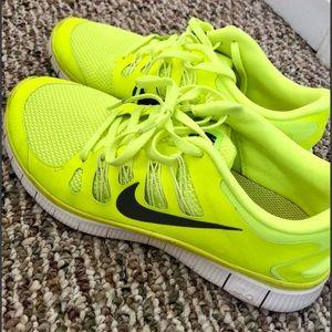 Nike Free Yellow size 11 (can fit 10.5) worn twice